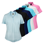 9945 Greg Norman Ladies S/S Polyester Polo Shirt (K447)